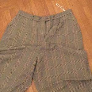 Talbots 12 plaid pants cotton